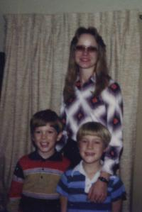 My mom, my brother, and me less than a year after the fire